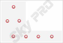 33 - Схема расположения точечных светильников на натяжном потолке