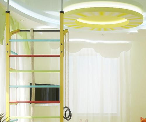Натяжной потолок в детской комнате