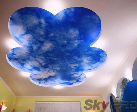 Дизайн потолков фотопечатью небо