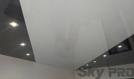 Спайка цветов натяжной потолок фото
